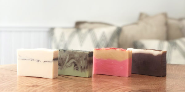 a photo of four Fall 2020 Limited Edition soaps