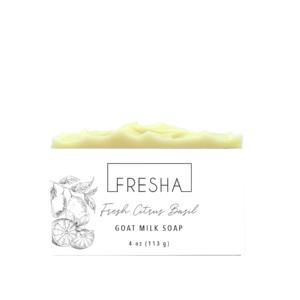 Fresh Citrus Basil Goat Milk Soap